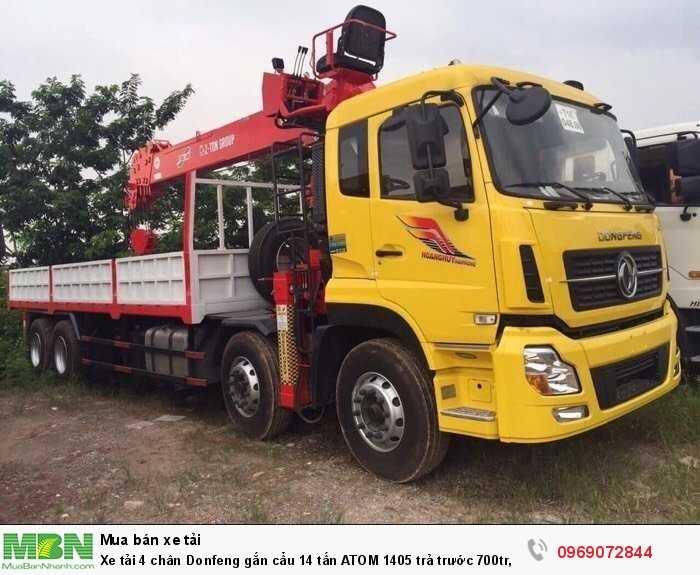 Xe tải 4 chân Donfeng gắn cẩu 14 tấn ATOM 1405 trả trước 700tr, Giao xe ngay 0