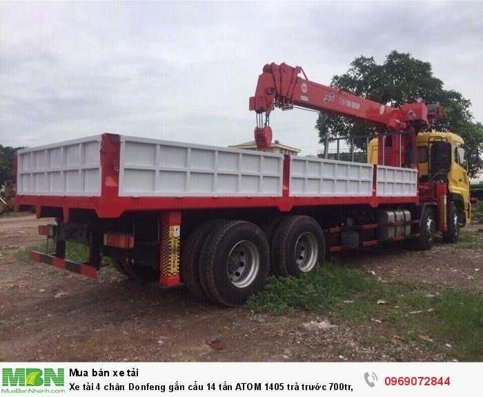Xe tải 4 chân Donfeng gắn cẩu 14 tấn ATOM 1405 trả trước 700tr, Giao xe ngay 1