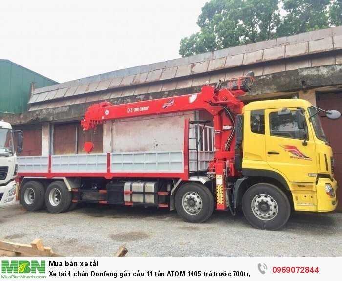 Xe tải 4 chân Donfeng gắn cẩu 14 tấn ATOM 1405 trả trước 700tr, Giao xe ngay 2