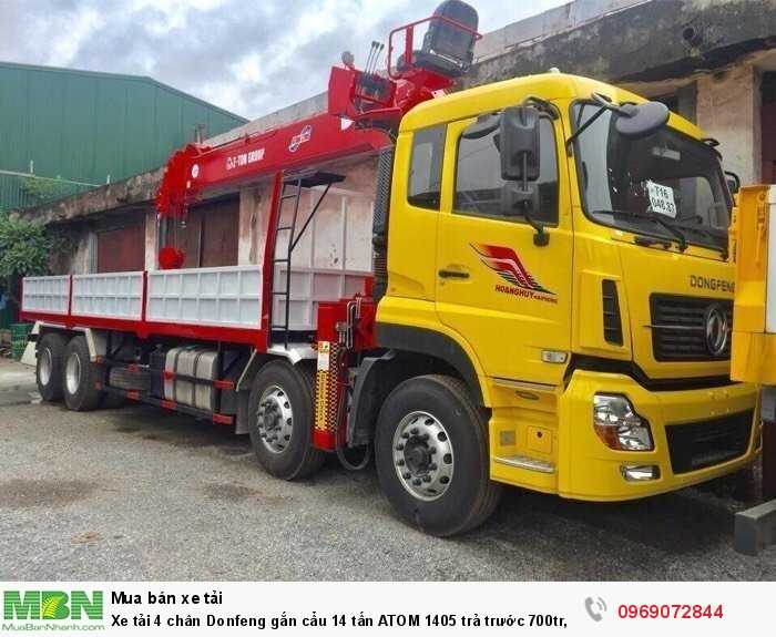Xe tải 4 chân Donfeng gắn cẩu 14 tấn ATOM 1405 trả trước 700tr, Giao xe ngay 3