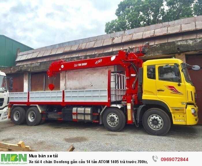 Xe tải 4 chân Donfeng gắn cẩu 14 tấn ATOM 1405 trả trước 700tr, Giao xe ngay 4