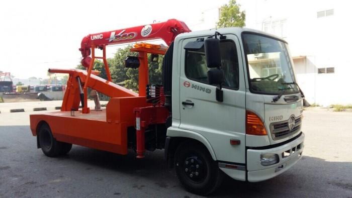 Xe cứu hộ giao thông Hino FC gắn cẩu Unic V340 3 tấn 5
