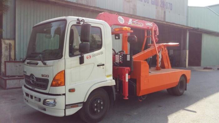 Xe cứu hộ giao thông Hino FC gắn cẩu Unic V340 3 tấn 1