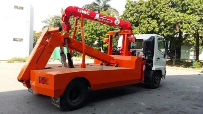 Xe cứu hộ giao thông Hino FC gắn cẩu Unic V340 3 tấn 2