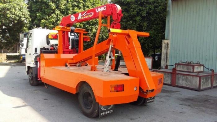 Xe cứu hộ giao thông Hino FC gắn cẩu Unic V340 3 tấn 4
