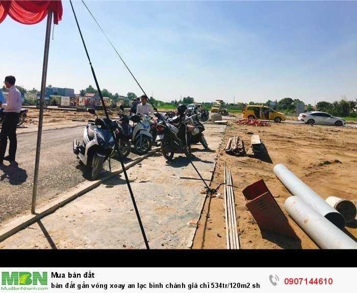 Bán đất gần vòng xoay An Lạc Bình Chánh giá chỉ 534tr/120m2 shr bao sang tên