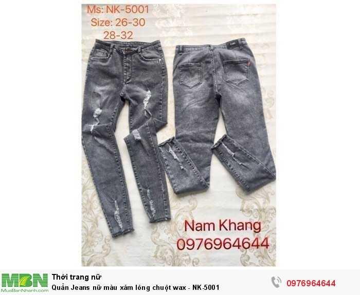 Bỏ sỉ quần Jean nữ màu xám lông chuột - số lượng từ 20 sản phẩm/mẫu0