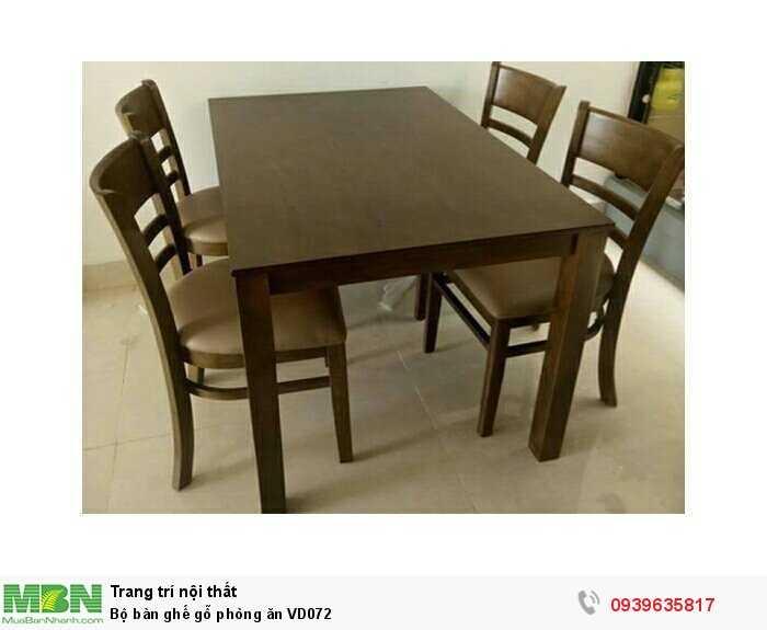 Bộ bàn ghế gỗ phòng ăn VD0720