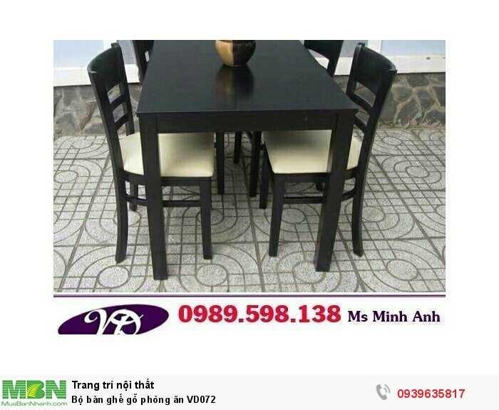 Bộ bàn ghế gỗ phòng ăn VD0721