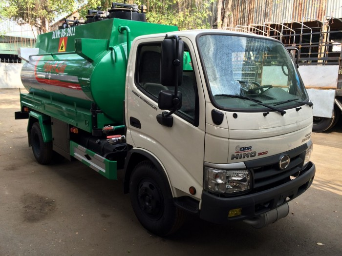 Xe bồn Hino Dutro WU342L 6 khối chở xăng dầu, trả trước 100 triệu là nhận xe ngay