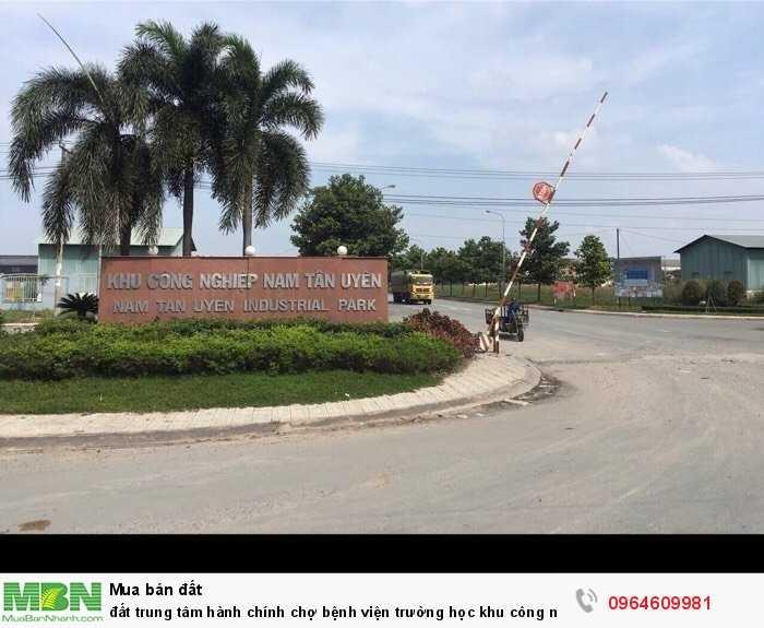 Đất trung tâm hành chính chợ bệnh viện trường học khu công nghiệp