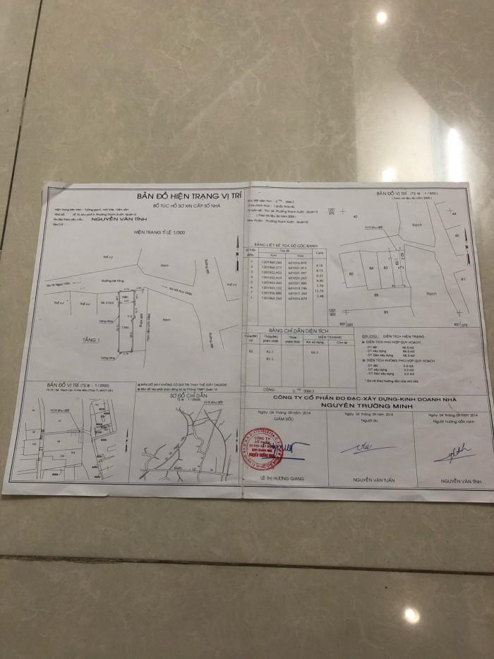 Bán căn nhà c4 66m2 giấy tờ tay hợp lệ tại đường Tô Ngọc Vân,P.Thạnh Xuân,Q12