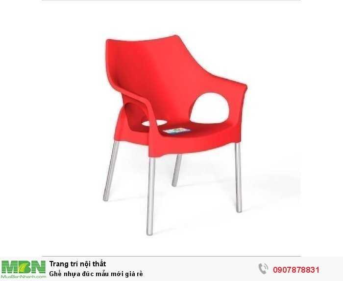 Ghế nhựa đúc mẫu mới giá rẻ2