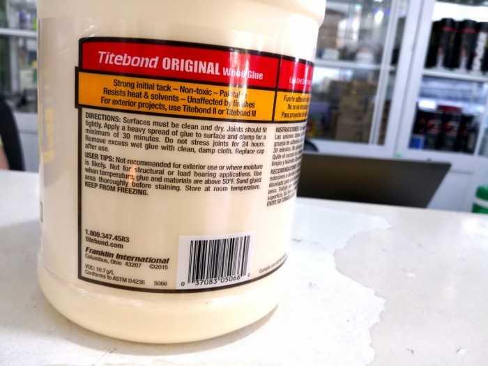 Keo Titebond Original có độ bền kết dính mạnh hơn chính gỗ tự nhiên, rất dễ chà nhám, đánh bóng và không bị ảnh hưởng bởi các loạI sơn phủ hoàn thiện.1