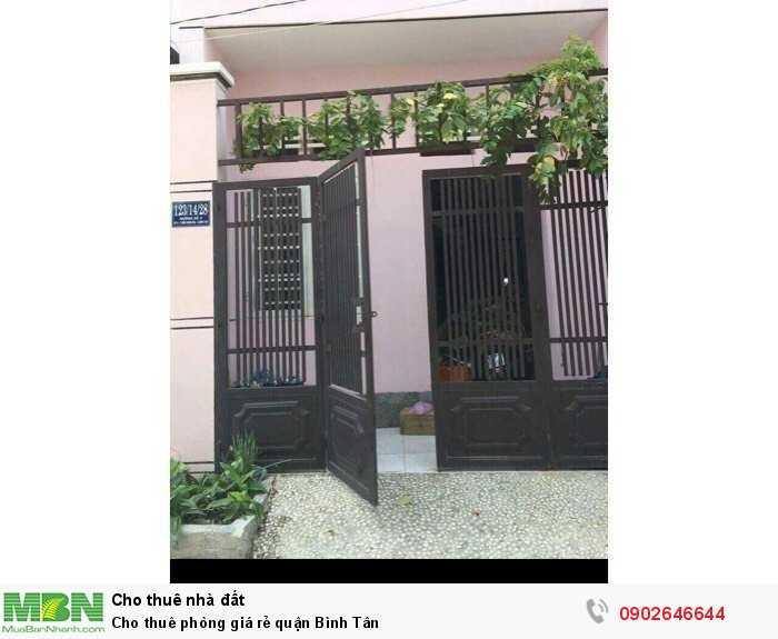Cho thuê phòng giá rẻ quận Bình Tân