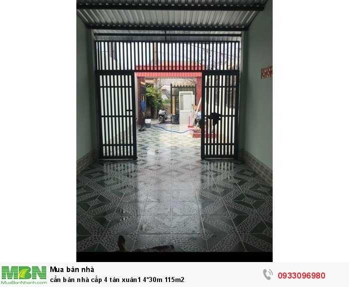 Cần Bán Nhà Cấp 4 Tân Xuân1 4*30M 115M2