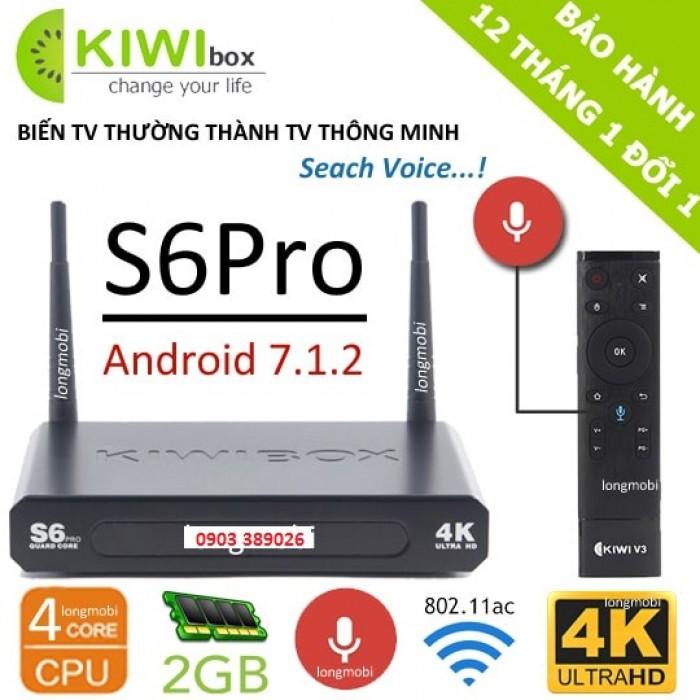 KIWIBOX S6 PRO – RAM 2GB tại Cửa Hàng Hải là đại lý chính thức của Kiwi nên bán trọn bộ Android Kiwi S6 pro có khuyến mãi remote nói Kiwi V3 giảm giá đến 10% chỉ còn 1250K/ bộ3