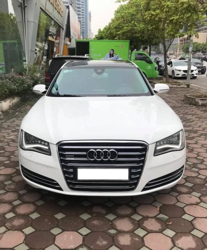 Bán xe Audi A8L 2011 màu trắng nhập khẩu một chủ đi hơn 8 vạn km