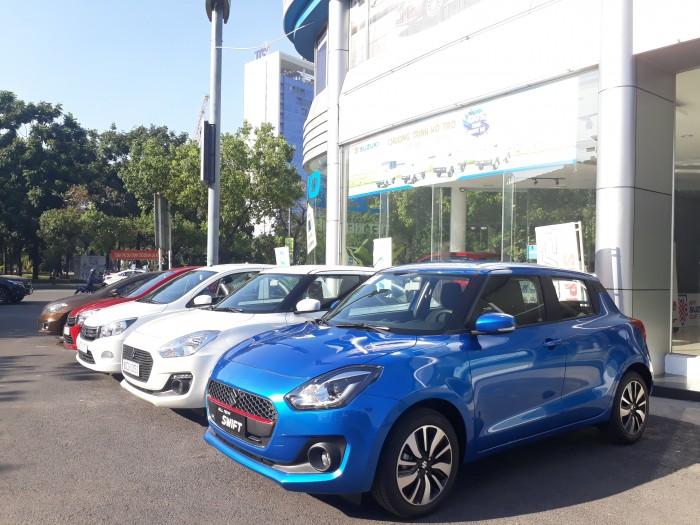 Suzuki New Swift 2018 GLX màu xanh, Có xe lái thử, Giao xe trong tháng