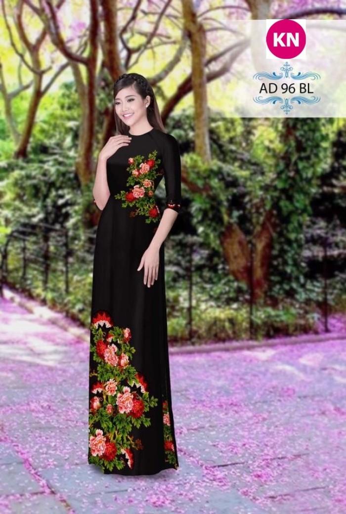 Vải áo dài đẹp in 3D 967