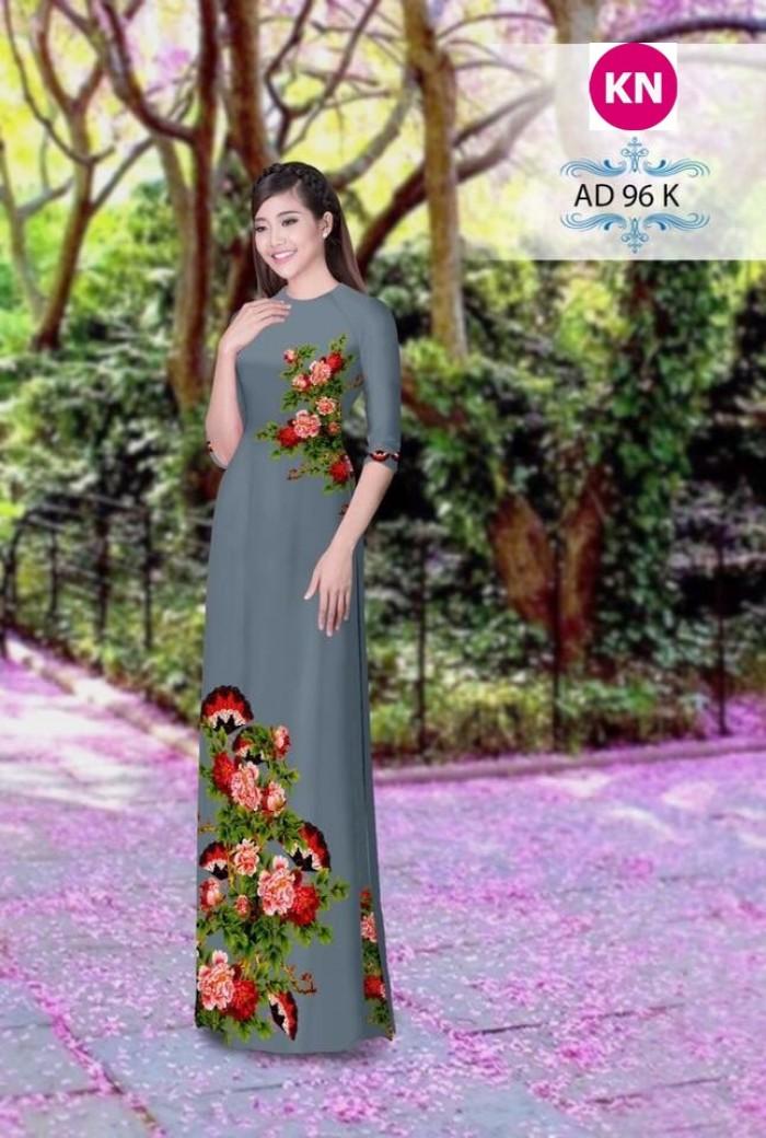 Vải áo dài đẹp in 3D 963