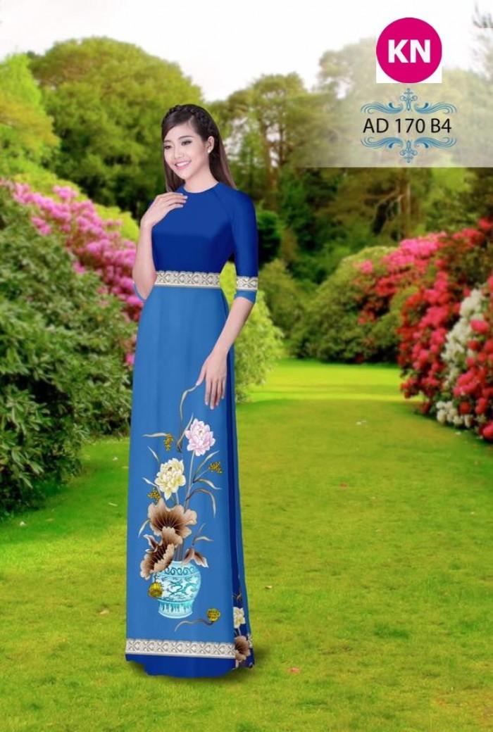 Vải áo dài đẹp in 3D 17014