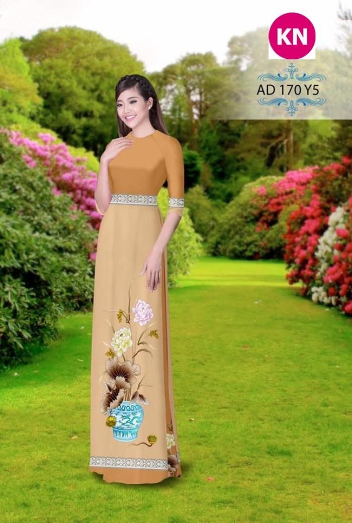 Vải áo dài đẹp in 3D 17013