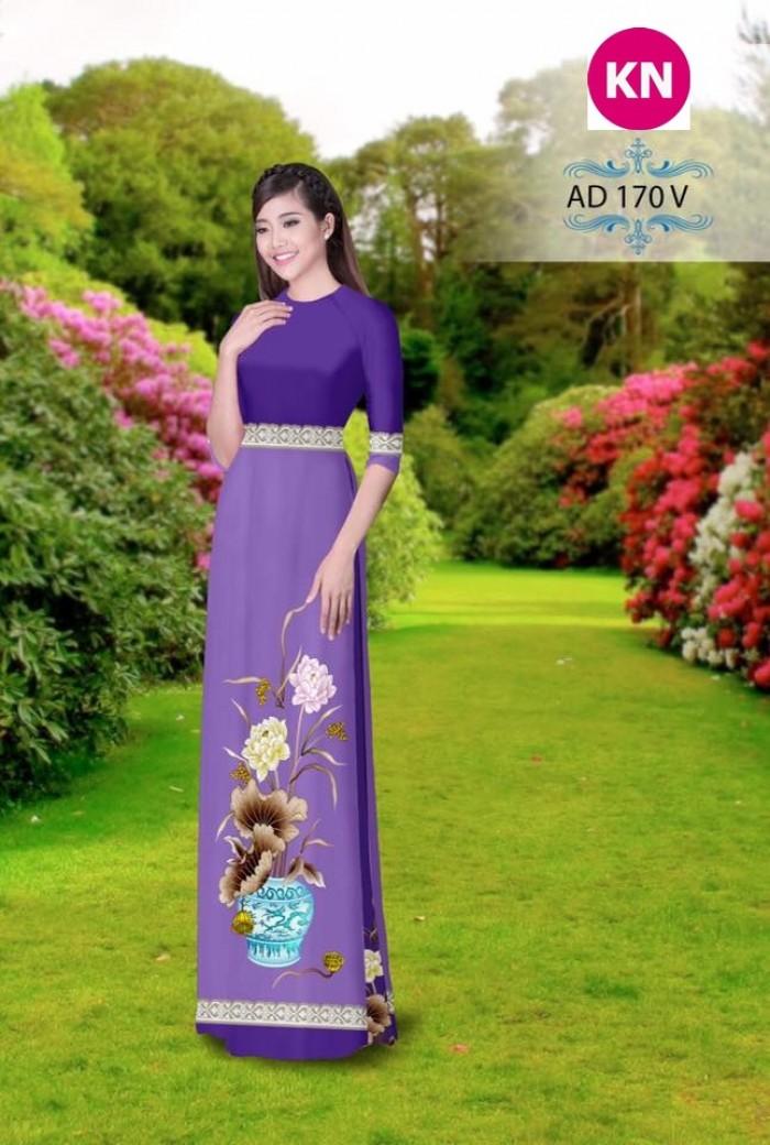Vải áo dài đẹp in 3D 1705