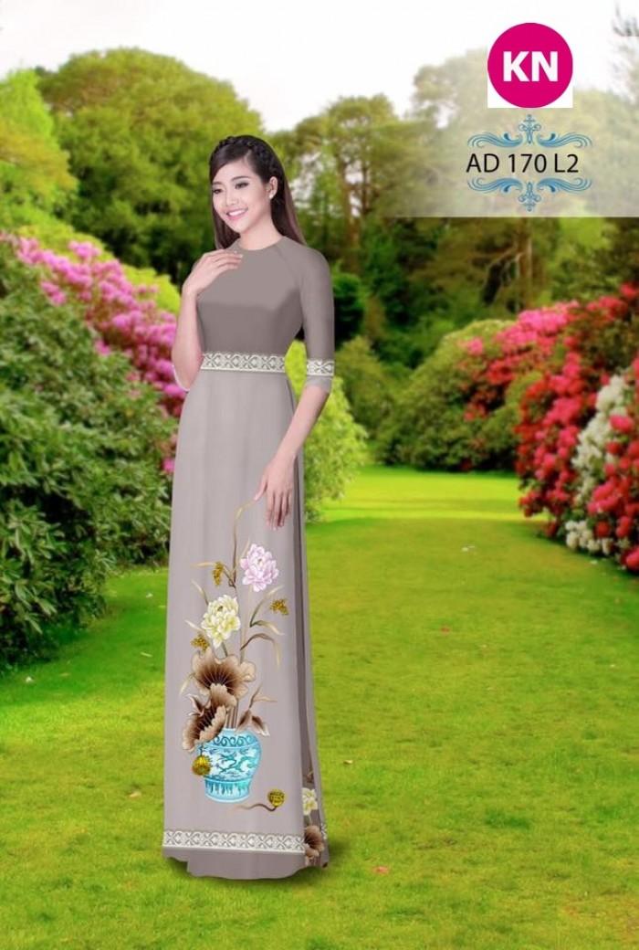 Vải áo dài đẹp in 3D 1700