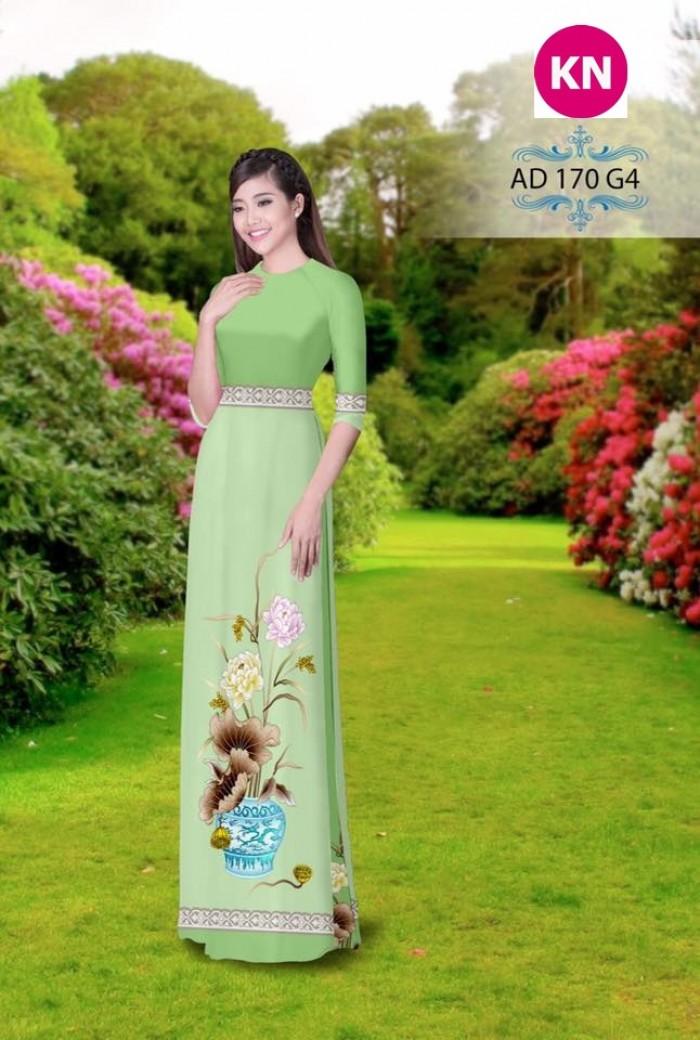 Vải áo dài đẹp in 3D 1703