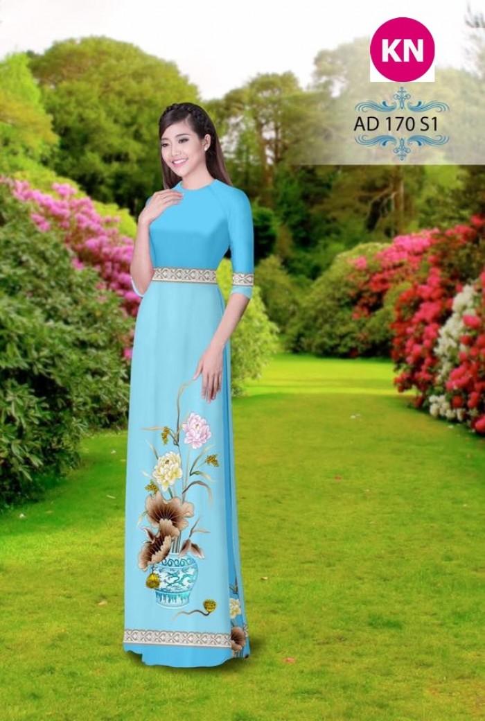 Vải áo dài đẹp in 3D 1706
