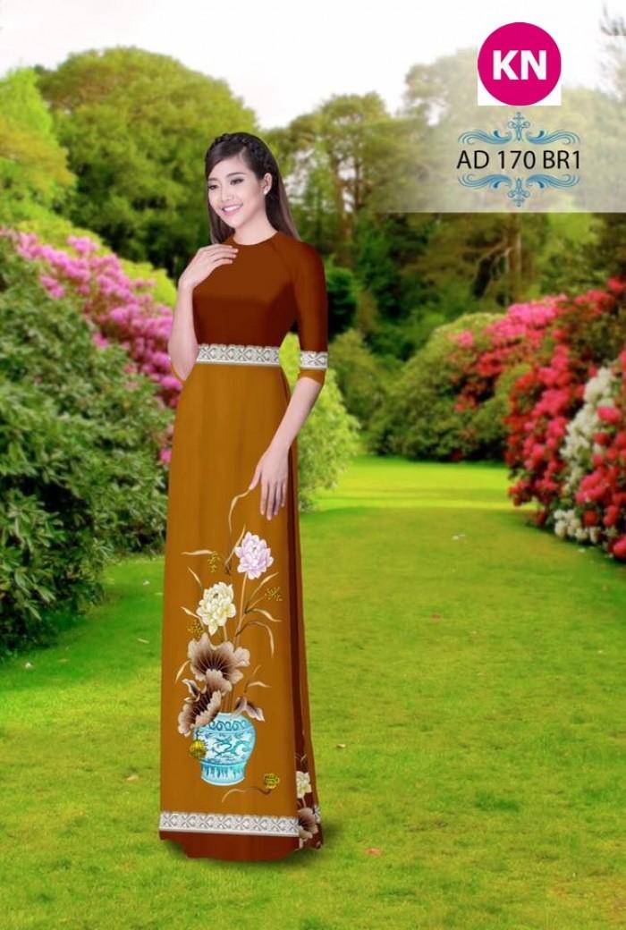 Vải áo dài đẹp in 3D 1702