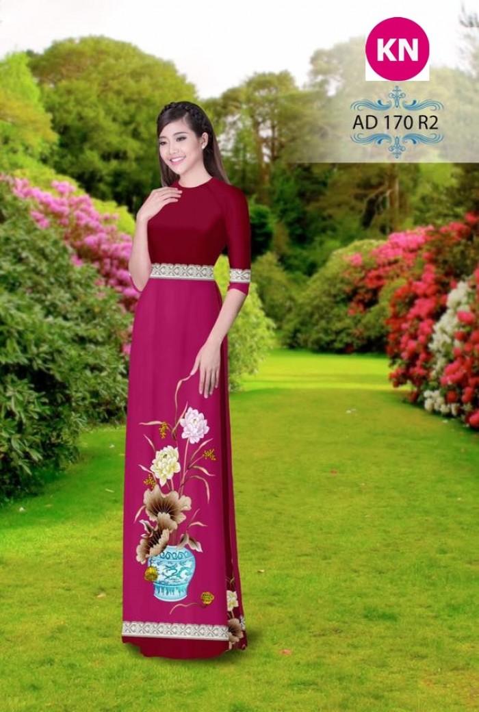 Vải áo dài đẹp in 3D 1704