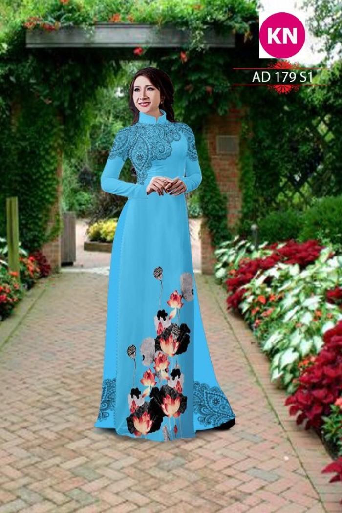 Vải áo dài đẹp in 3D 1796