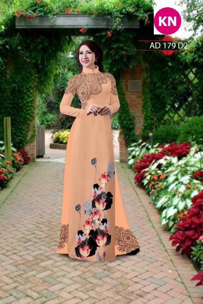 Vải áo dài đẹp in 3D 17912
