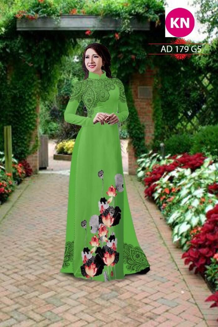 Vải áo dài đẹp in 3D 17910