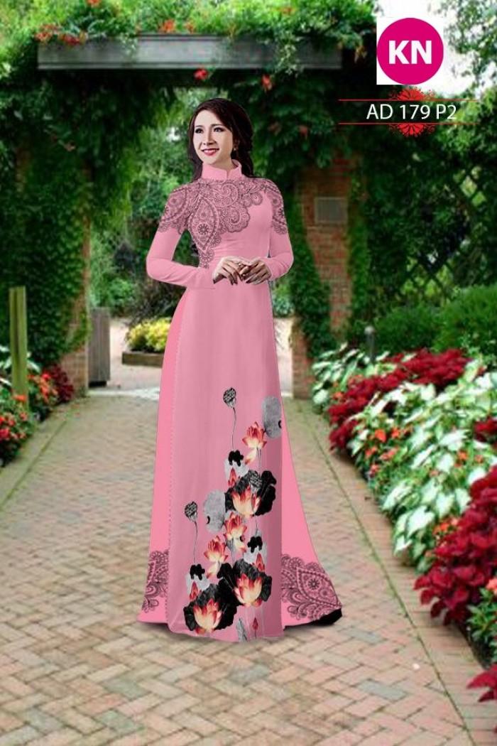 Vải áo dài đẹp in 3D 1791
