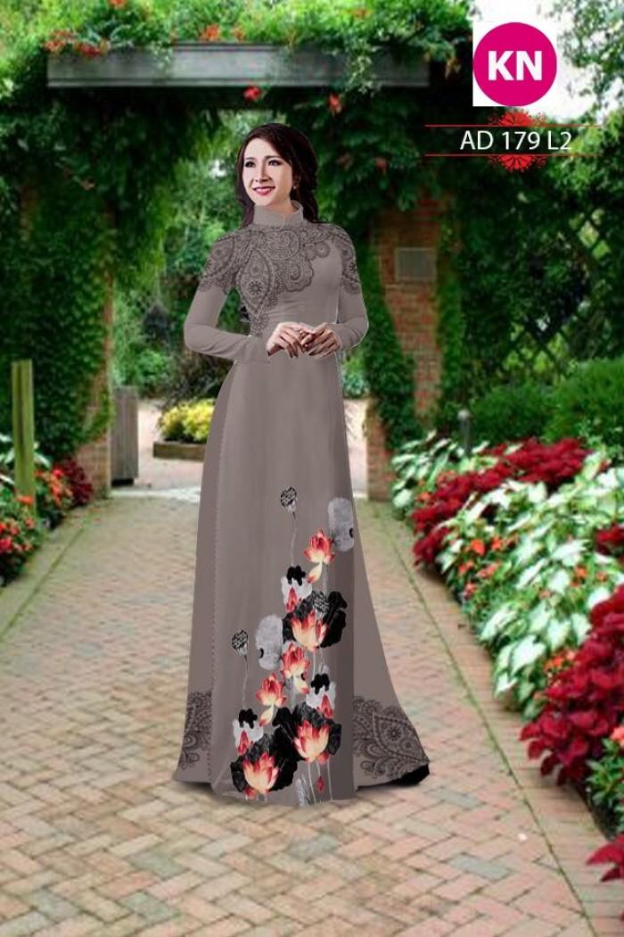 Vải áo dài đẹp in 3D 17914