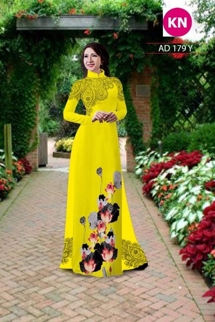 Vải áo dài đẹp in 3D 17913