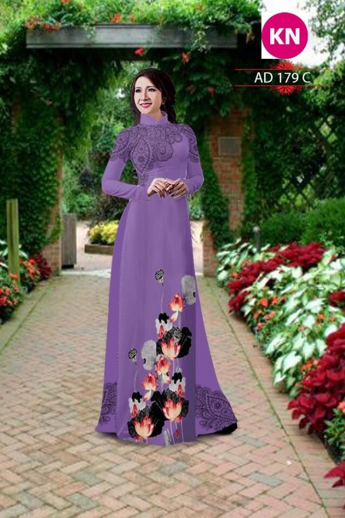 Vải áo dài đẹp in 3D 17911