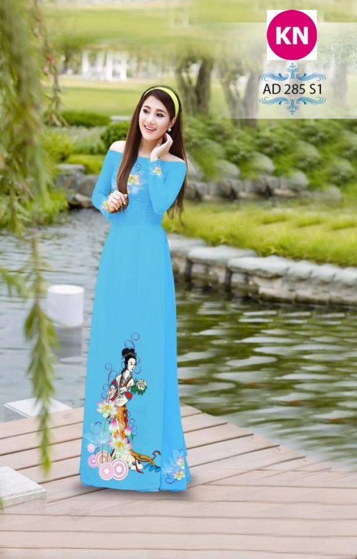 Vải áo dài đẹp in 3D 28517