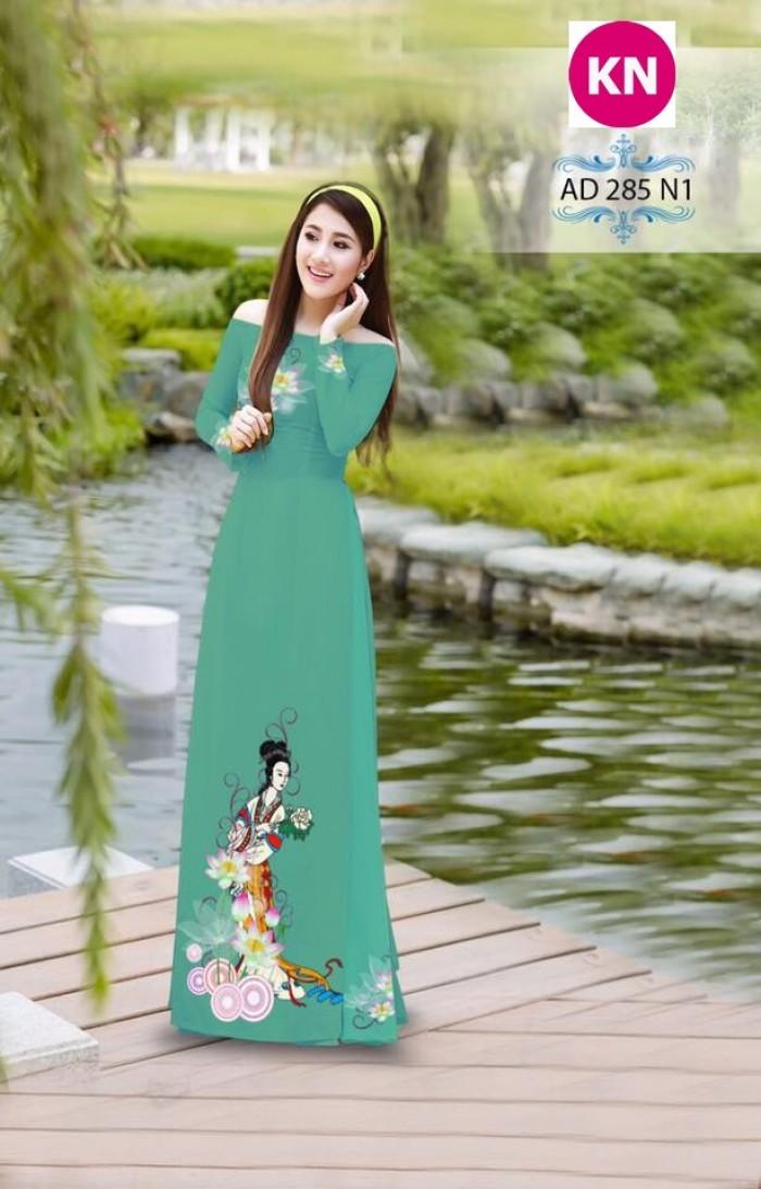 Vải áo dài đẹp in 3D 2850