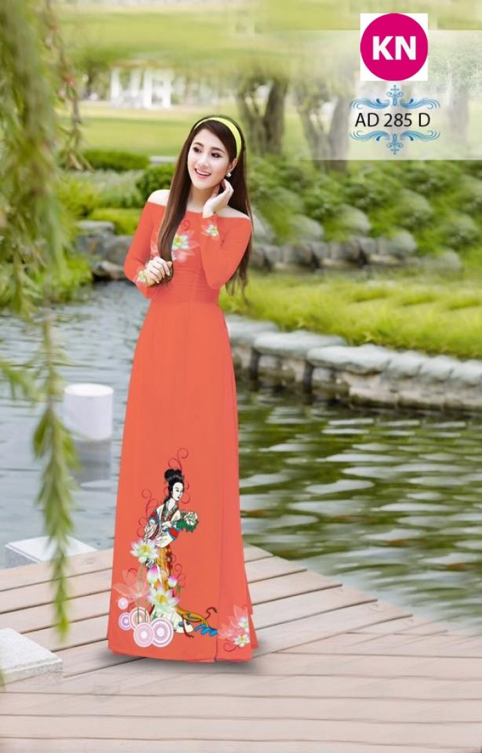 Vải áo dài đẹp in 3D 28515
