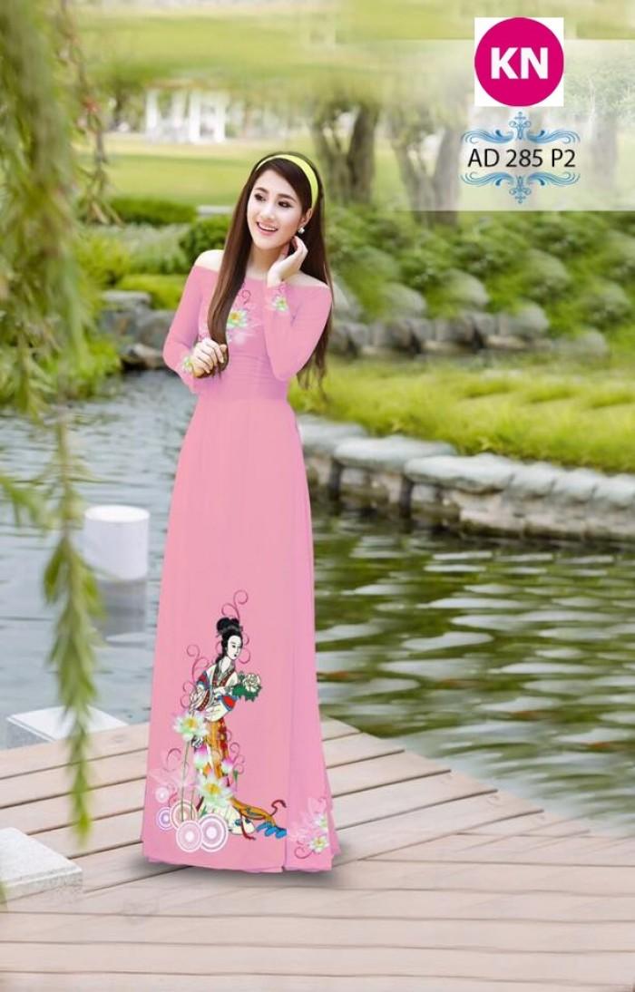 Vải áo dài đẹp in 3D 2854