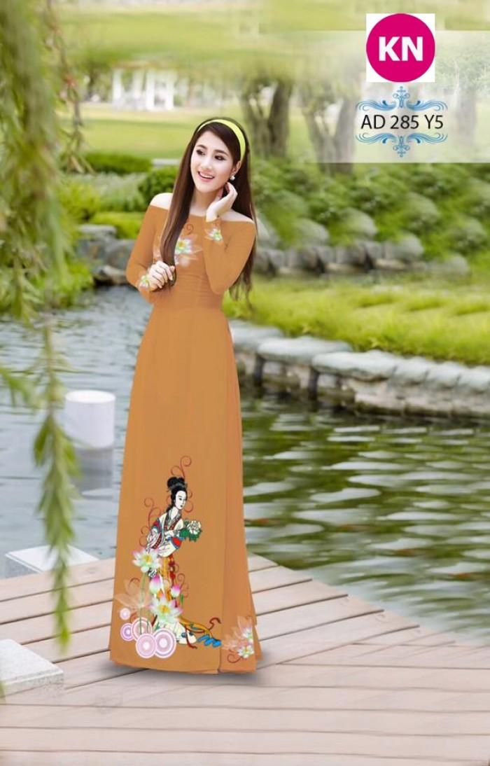 Vải áo dài đẹp in 3D 28514