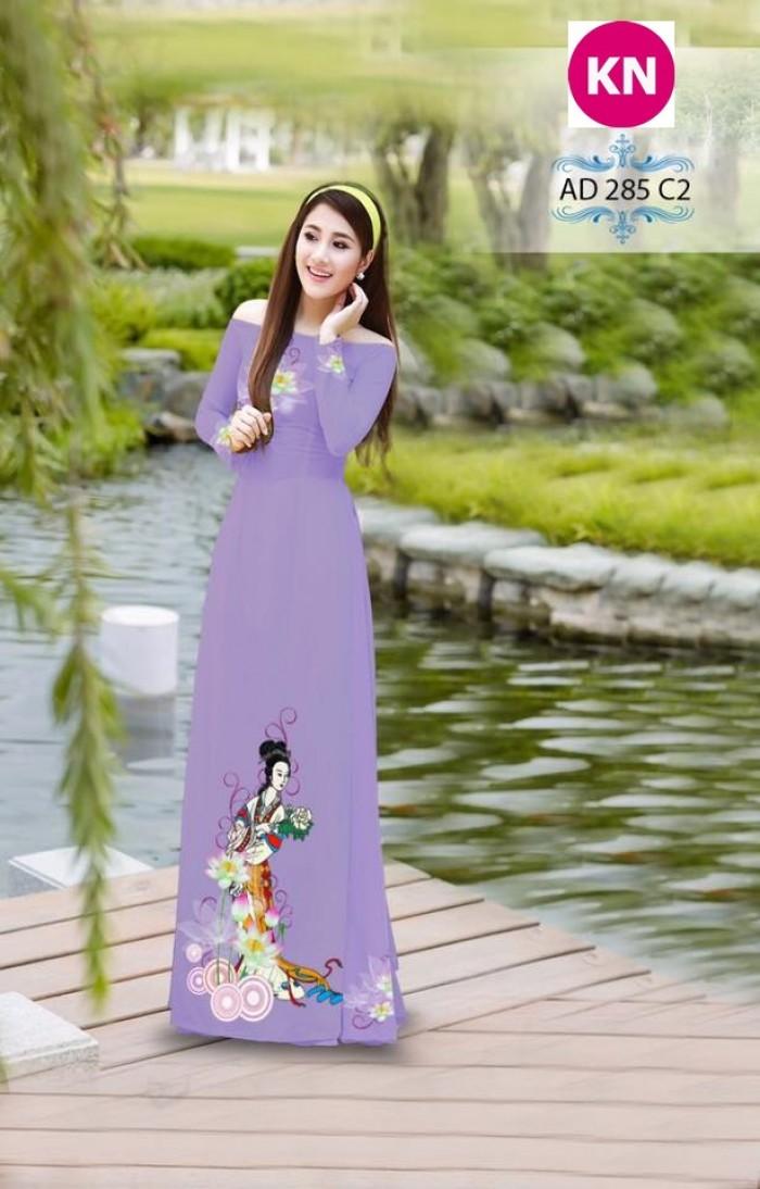 Vải áo dài đẹp in 3D 28516