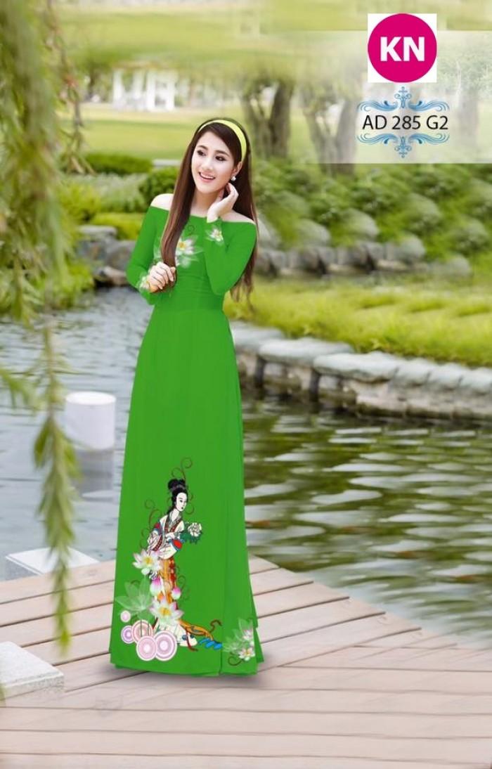 Vải áo dài đẹp in 3D 2855