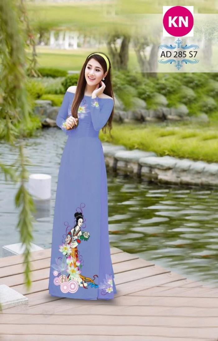 Vải áo dài đẹp in 3D 2856