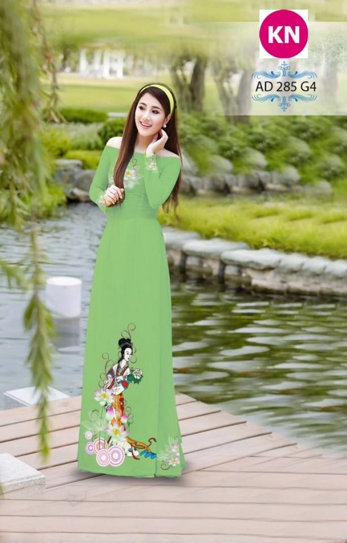 Vải áo dài đẹp in 3D 28511