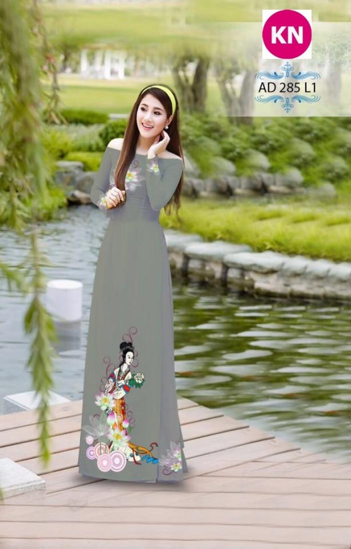 Vải áo dài đẹp in 3D 2853